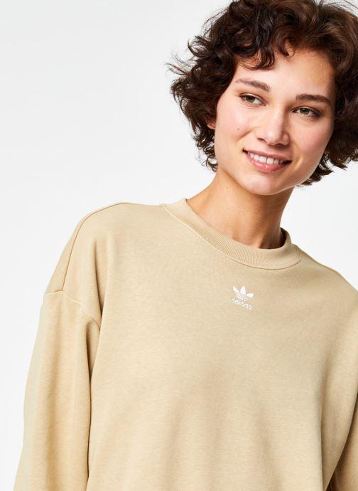 Vêtements adidas originals Sweatshirt Beige vue face