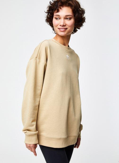 Vêtements adidas originals Sweatshirt Beige vue droite