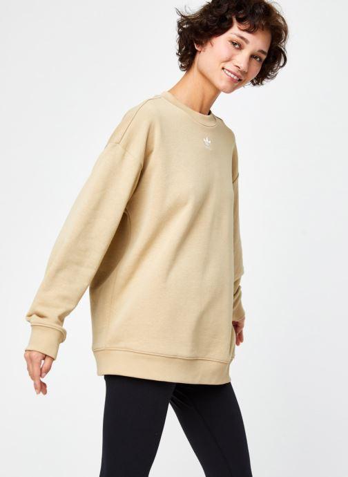 Vêtements adidas originals Sweatshirt Beige vue détail/paire