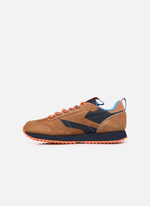 Baskets Reebok Cl Leather Ripple Trail Marron vue face