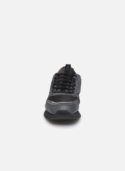 Baskets Reebok Cl Leather Ripple Trail Noir vue portées chaussures
