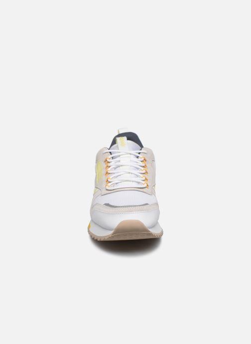 Baskets Reebok Cl Leather Ripple Trail Blanc vue portées chaussures