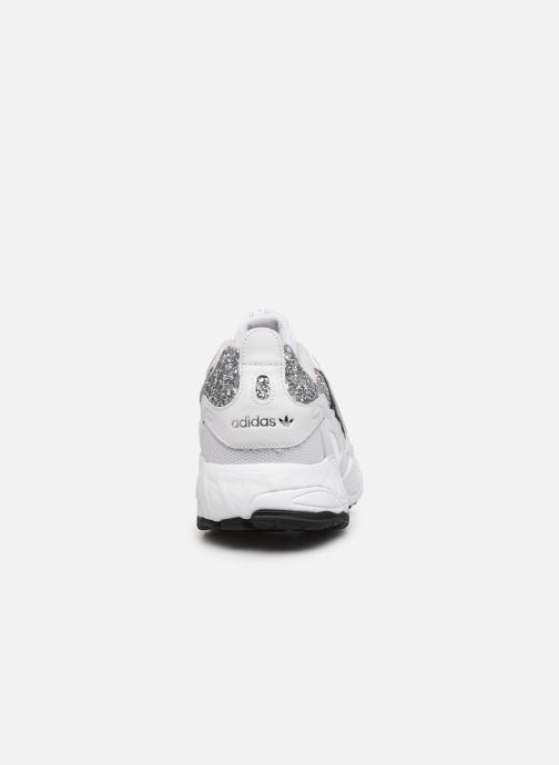 Deportivas adidas originals Eqt Gazelle W Blanco vista lateral derecha