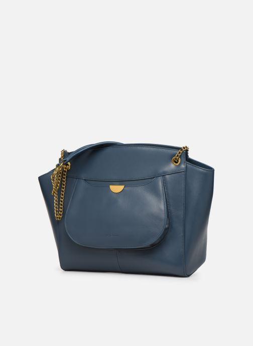 Handtaschen Nat & Nin Claudie blau schuhe getragen