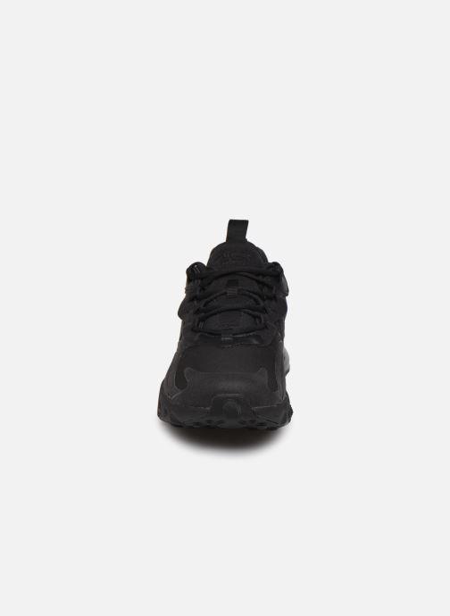 Baskets Nike Nike Air Max 270 React (Gs) Noir vue portées chaussures