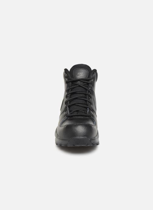 Stivaletti e tronchetti Nike Nike Manoa Ltr (Gs) Nero modello indossato