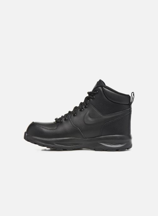 Boots en enkellaarsjes Nike Nike Manoa Ltr (Gs) Zwart voorkant