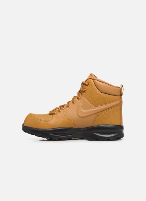 Boots en enkellaarsjes Nike Nike Manoa Ltr (Gs) Bruin voorkant