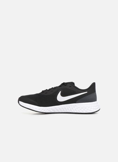 Sneaker Nike Nike Revolution 5 (Gs) schwarz ansicht von vorne