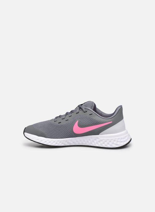 Deportivas Nike Nike Revolution 5 (Gs) Gris vista de frente