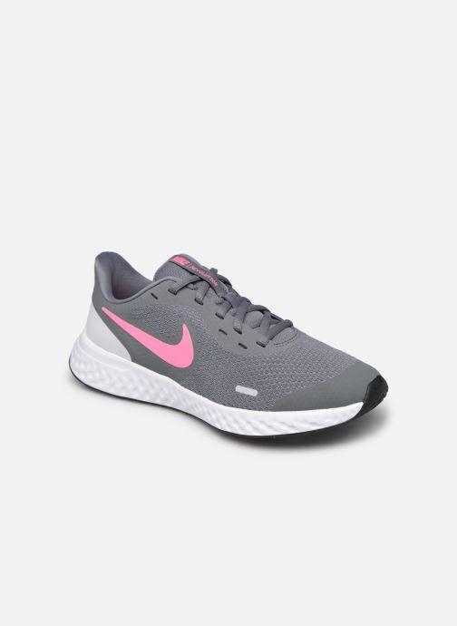 Deportivas Nike Nike Revolution 5 (Gs) Gris vista de detalle / par