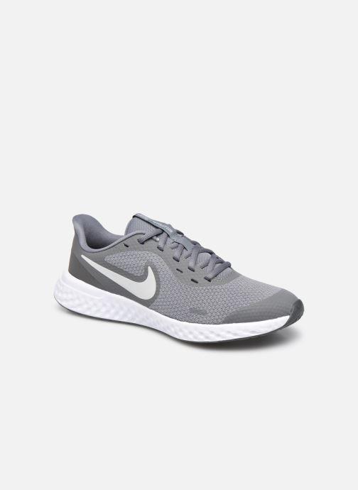 Baskets Nike Nike Revolution 5 (Gs) Gris vue détail/paire