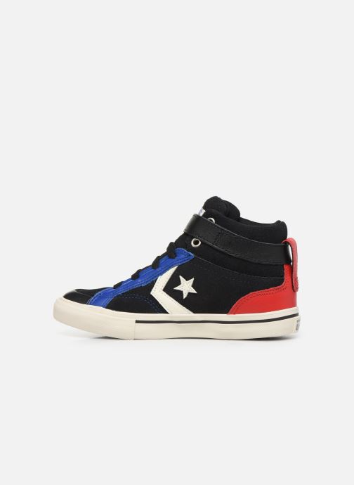Trainers Converse Pro Blaze Strap Suede/Leather Pack Hi Blue front view