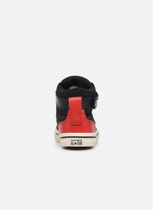 Deportivas Converse Pro Blaze Strap Suede/Leather Pack Hi Azul vista lateral derecha