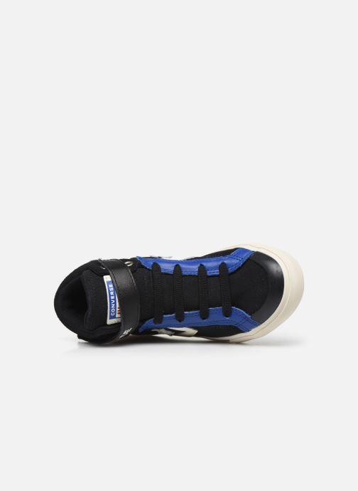 Baskets Converse Pro Blaze Strap Suede/Leather Pack Hi Bleu vue gauche
