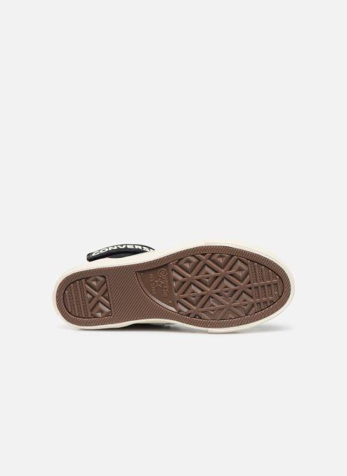 Baskets Converse Pro Blaze Strap Suede/Leather Pack Hi Bleu vue haut