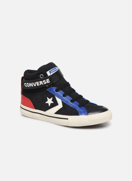 Baskets Converse Pro Blaze Strap Suede/Leather Pack Hi Bleu vue détail/paire