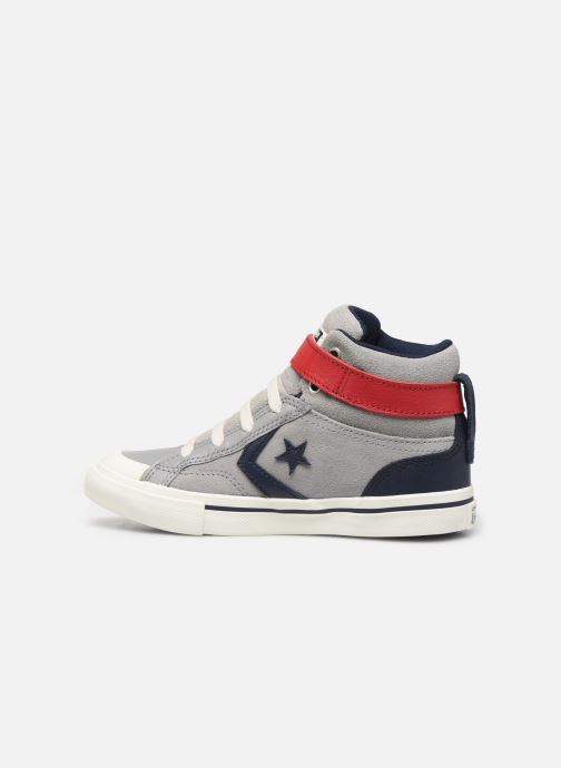 Trainers Converse Pro Blaze Strap Suede/Leather Pack Hi Grey front view