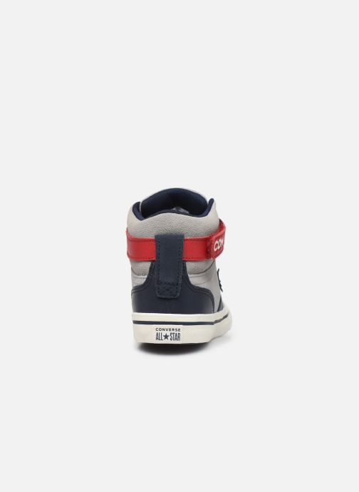 Baskets Converse Pro Blaze Strap Suede/Leather Pack Hi Gris vue droite