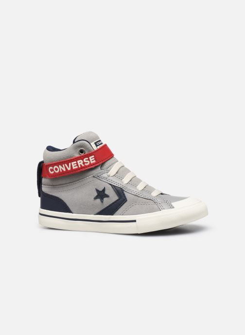 Trainers Converse Pro Blaze Strap Suede/Leather Pack Hi Grey back view