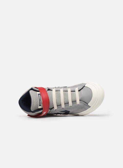 Baskets Converse Pro Blaze Strap Suede/Leather Pack Hi Gris vue gauche