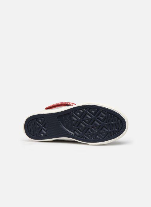 Baskets Converse Pro Blaze Strap Suede/Leather Pack Hi Gris vue haut