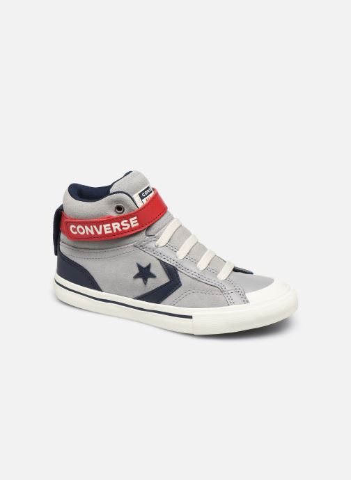 Baskets Converse Pro Blaze Strap Suede/Leather Pack Hi Gris vue détail/paire