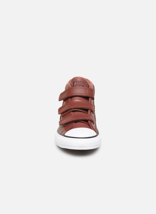 Baskets Converse Star Player 3V Leather + Warmth Mid Marron vue portées chaussures