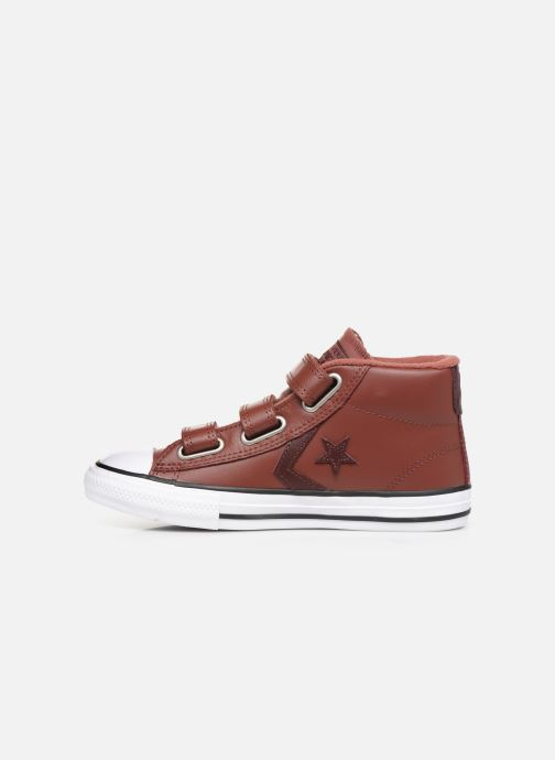 Sneakers Converse Star Player 3V Leather + Warmth Mid Bruin voorkant