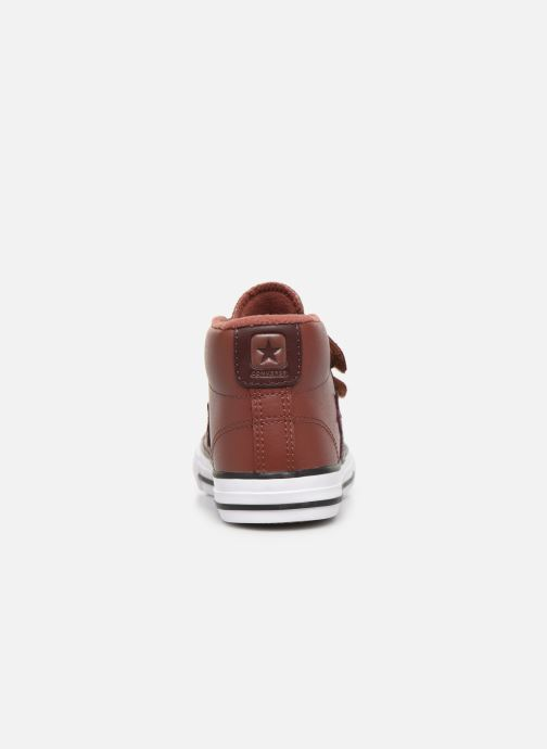 Baskets Converse Star Player 3V Leather + Warmth Mid Marron vue droite