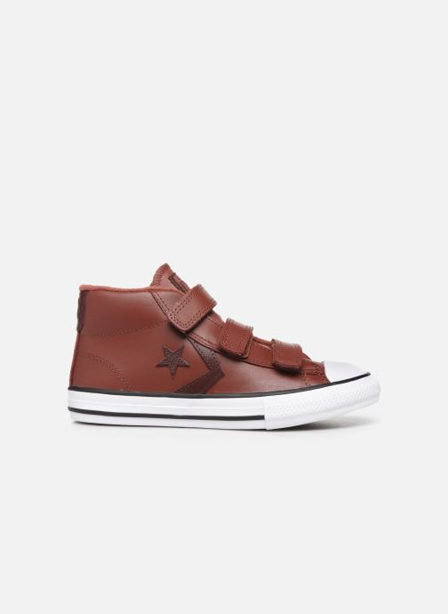 Sneakers Converse Star Player 3V Leather + Warmth Mid Bruin achterkant