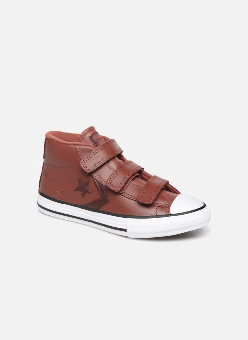 Baskets Converse Star Player 3V Leather + Warmth Mid Marron vue détail/paire