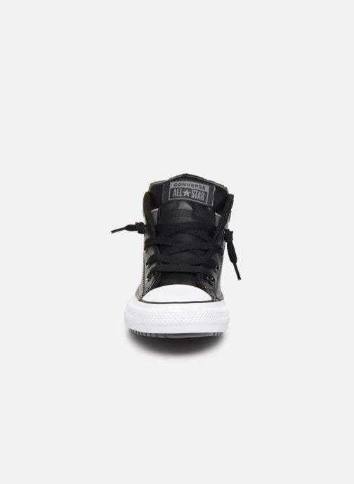 Baskets Converse Chuck Taylor All Star Street Boot Two-Tone Hiker Leather Mid Noir vue portées chaussures