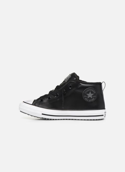 Baskets Converse Chuck Taylor All Star Street Boot Two-Tone Hiker Leather Mid Noir vue face