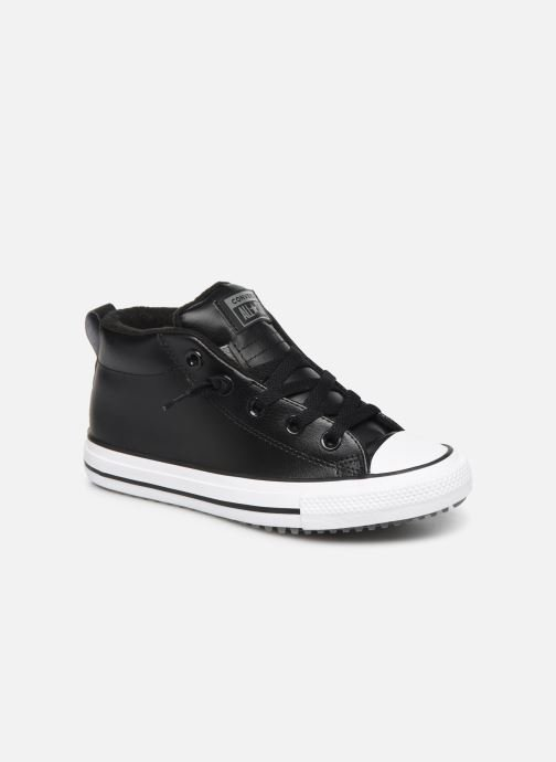 Trainers Converse Chuck Taylor All Star Street Boot Two-Tone Hiker Leather Mid Black detailed view/ Pair view