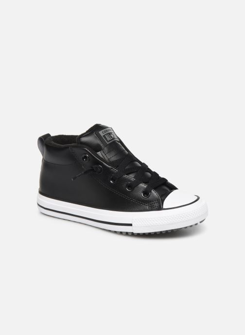 Baskets Converse Chuck Taylor All Star Street Boot Two-Tone Hiker Leather Mid Noir vue détail/paire