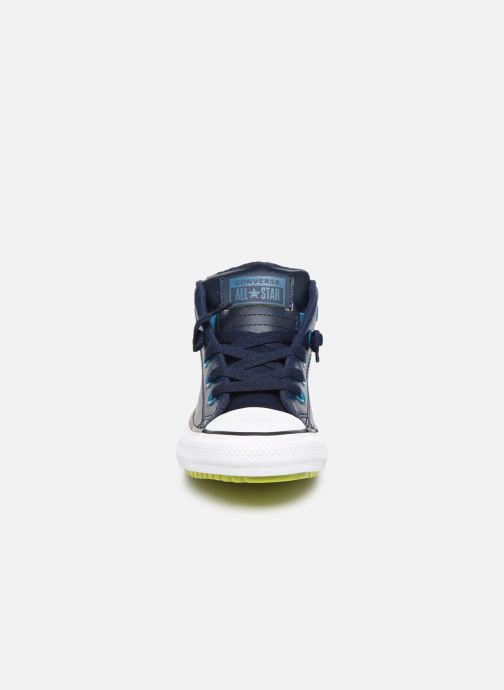 Baskets Converse Chuck Taylor All Star Street Boot Two-Tone Hiker Leather Mid Bleu vue portées chaussures