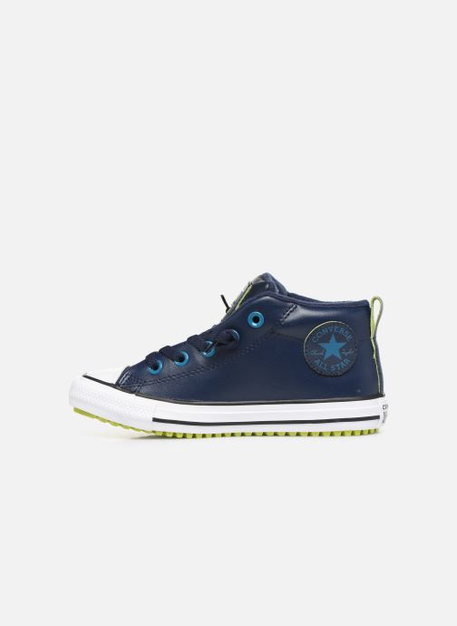 Sneakers Converse Chuck Taylor All Star Street Boot Two-Tone Hiker Leather Mid Azzurro immagine frontale