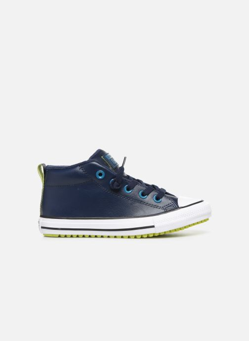 Sneakers Converse Chuck Taylor All Star Street Boot Two-Tone Hiker Leather Mid Blå se bagfra