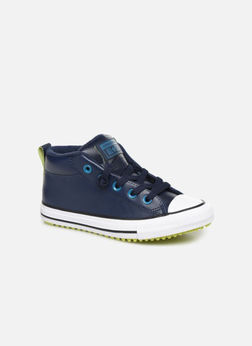 Baskets Converse Chuck Taylor All Star Street Boot Two-Tone Hiker Leather Mid Bleu vue détail/paire