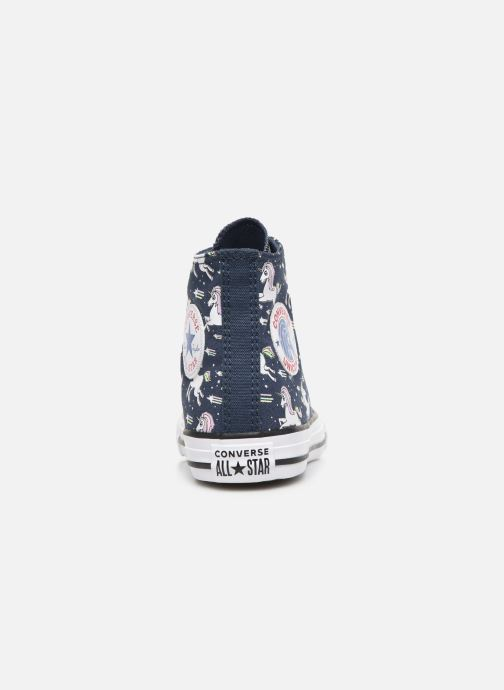 Sneakers Converse Chuck Taylor All Star Unicons Hi Blauw rechts