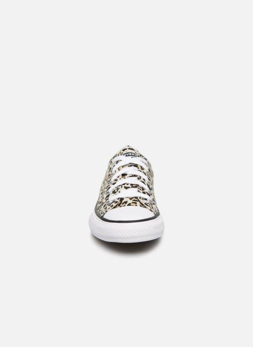 Sneaker Converse Chuck Taylor All Star Archive Leopard Ox weiß schuhe getragen