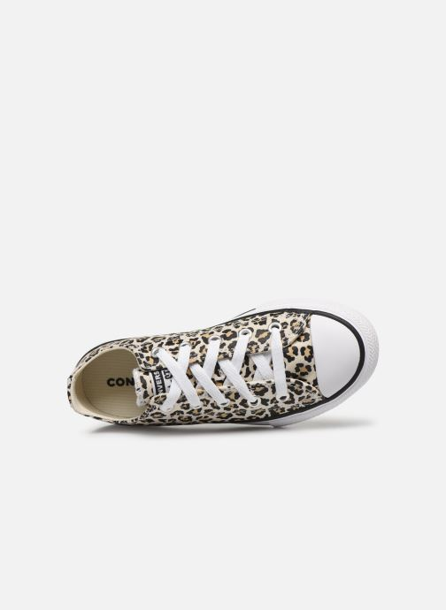 Sneaker Converse Chuck Taylor All Star Archive Leopard Ox weiß ansicht von links