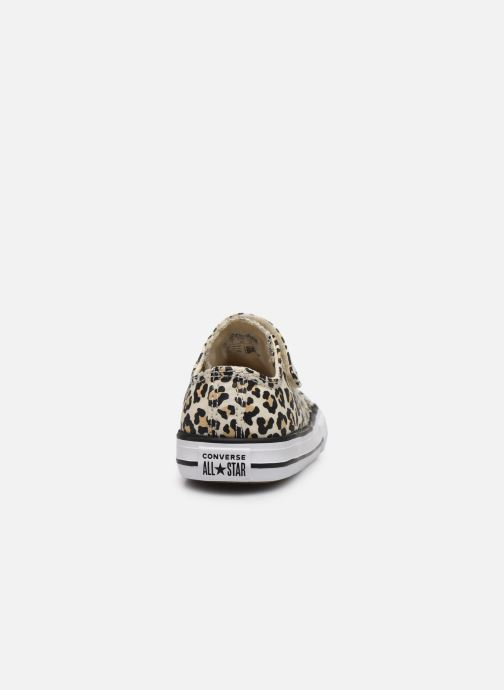 Sneakers Converse Chuck Taylor All Star 1V Archive Leopard Ox Wit rechts