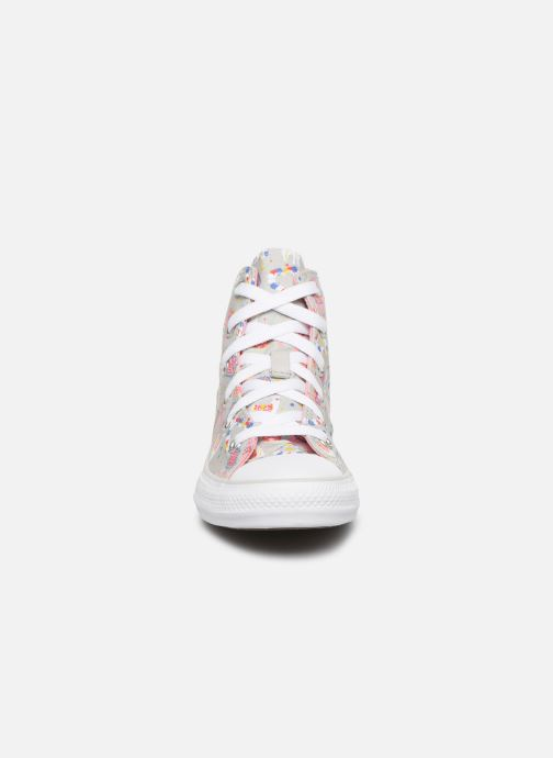 Baskets Converse Chuck Taylor All Star Llama Party Hi Gris vue portées chaussures