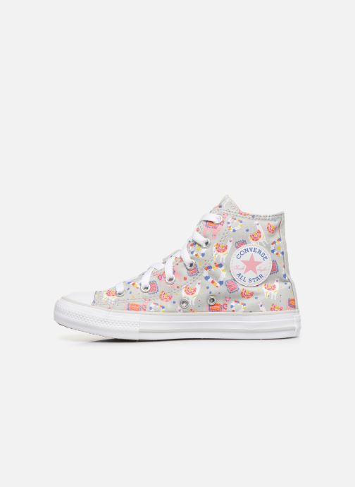 Baskets Converse Chuck Taylor All Star Llama Party Hi Gris vue face