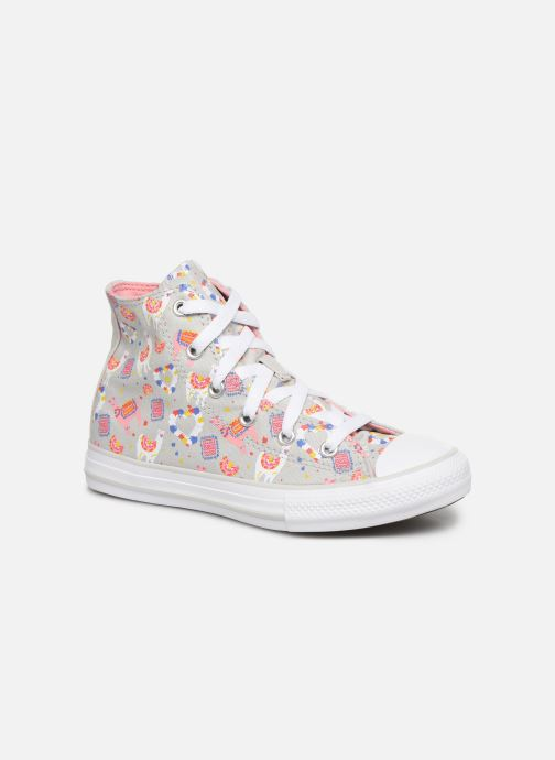 Baskets Converse Chuck Taylor All Star Llama Party Hi Gris vue détail/paire