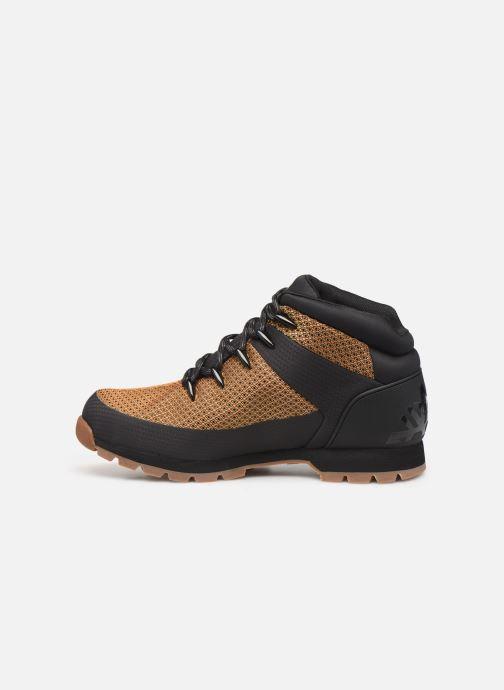 Boots en enkellaarsjes Timberland Euro Sprint Fabric WP Bruin voorkant