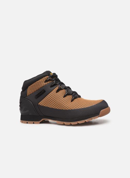 Boots en enkellaarsjes Timberland Euro Sprint Fabric WP Bruin achterkant