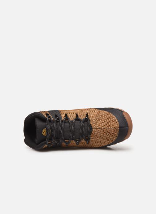 Boots en enkellaarsjes Timberland Euro Sprint Fabric WP Bruin links